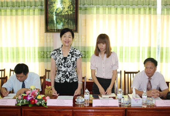 Dong Thap University warmly welcomed the delegation of Guangxi Teachers Education  University (GXTEU)