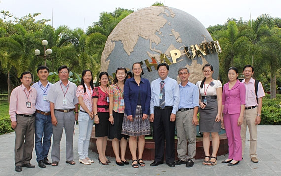 The delegation of Bac Lieu (BL) Giz project visited Dong Thap  University