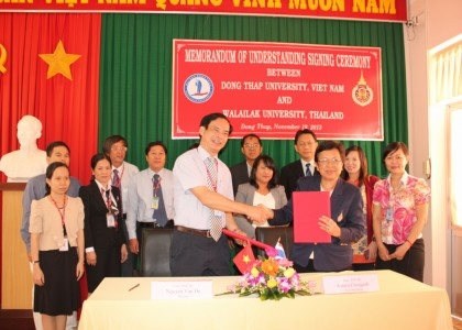 MEMORANDUM OF UNDERSTANDING SIGNING CEREMONY BETWEEN DONG THAP UNIVERSITY, VIETNAM AND WALAILAK UNIVERSITY, THAILAND