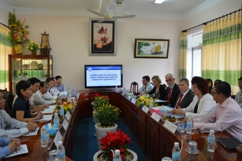 THE DELEGATION FROM STENDEN UNIVERSITY OF APPLIED SCIENCES, NETHERLANDS PAID A VISIT TO DONG THAP UNIVERSITY