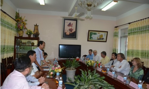 The delegation from Netherlands Enterprises paid a visit to Dong Thap Univesity