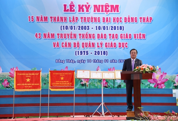 The speech delivered by Mr. Le Minh Hoan The Provincial Party Secretary of Dong Thap