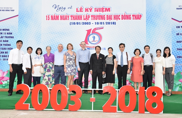 International Cooperation Activities welcomes  the 15th Anniversary of Dong Thap University's Establishment (2003 - 2018)  (From January 6 to January 13, 2018)
